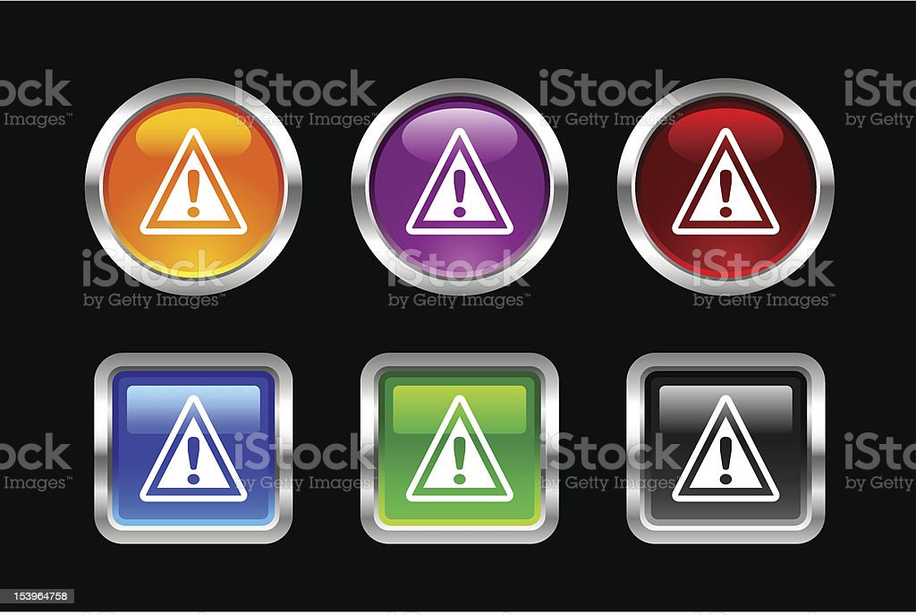 'Vii' Icon Series | Warning royalty-free stock vector art