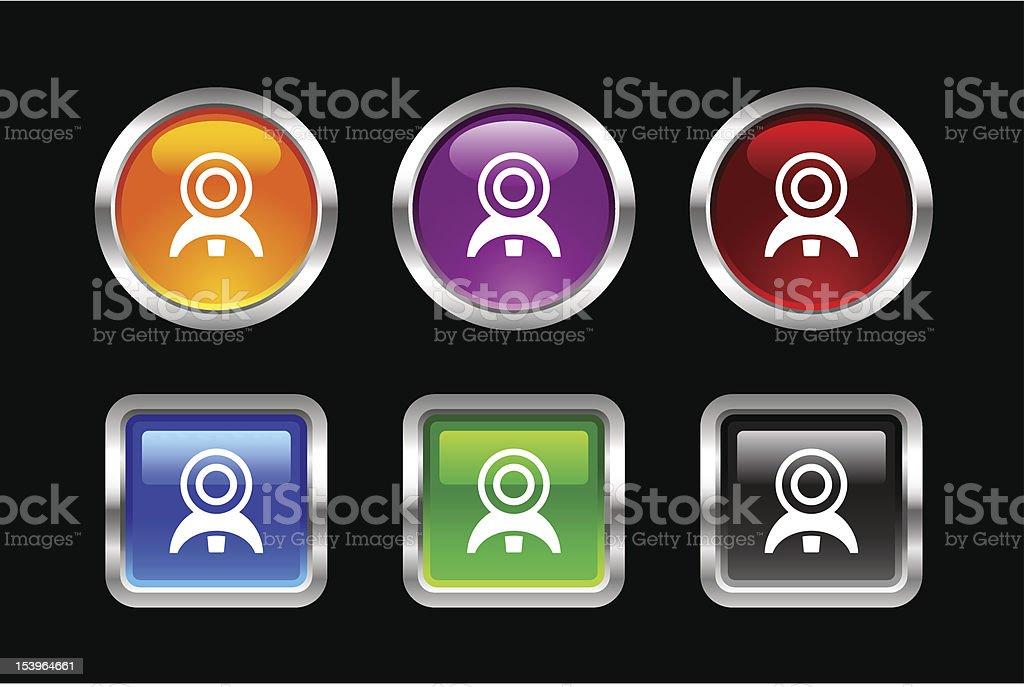 'Vii' Icon Series | Web Camera royalty-free stock vector art