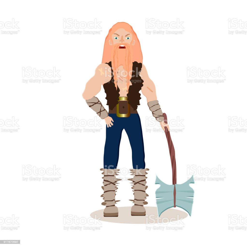 Ilustración de Personaje De Dibujos Animados De Vikingos Un ...