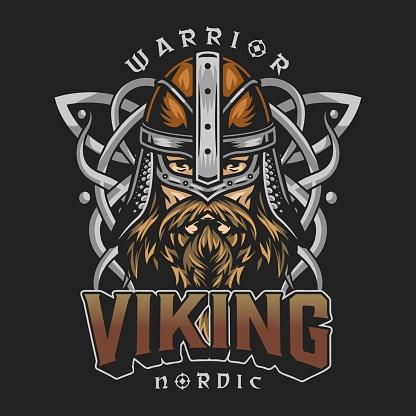 Viking colorful vintage design