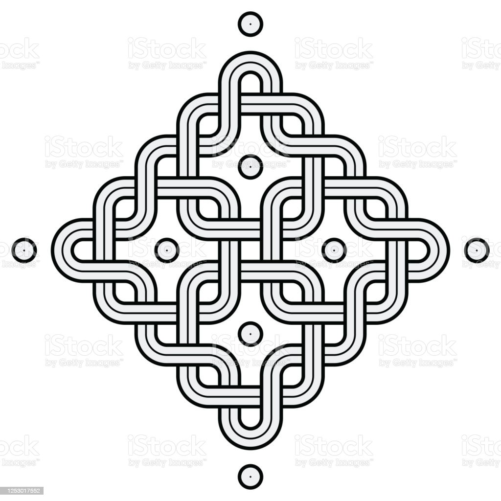Viking Decoration Knot Chained Squares Rounded Frame Stock Illustration Download Image Now Istock