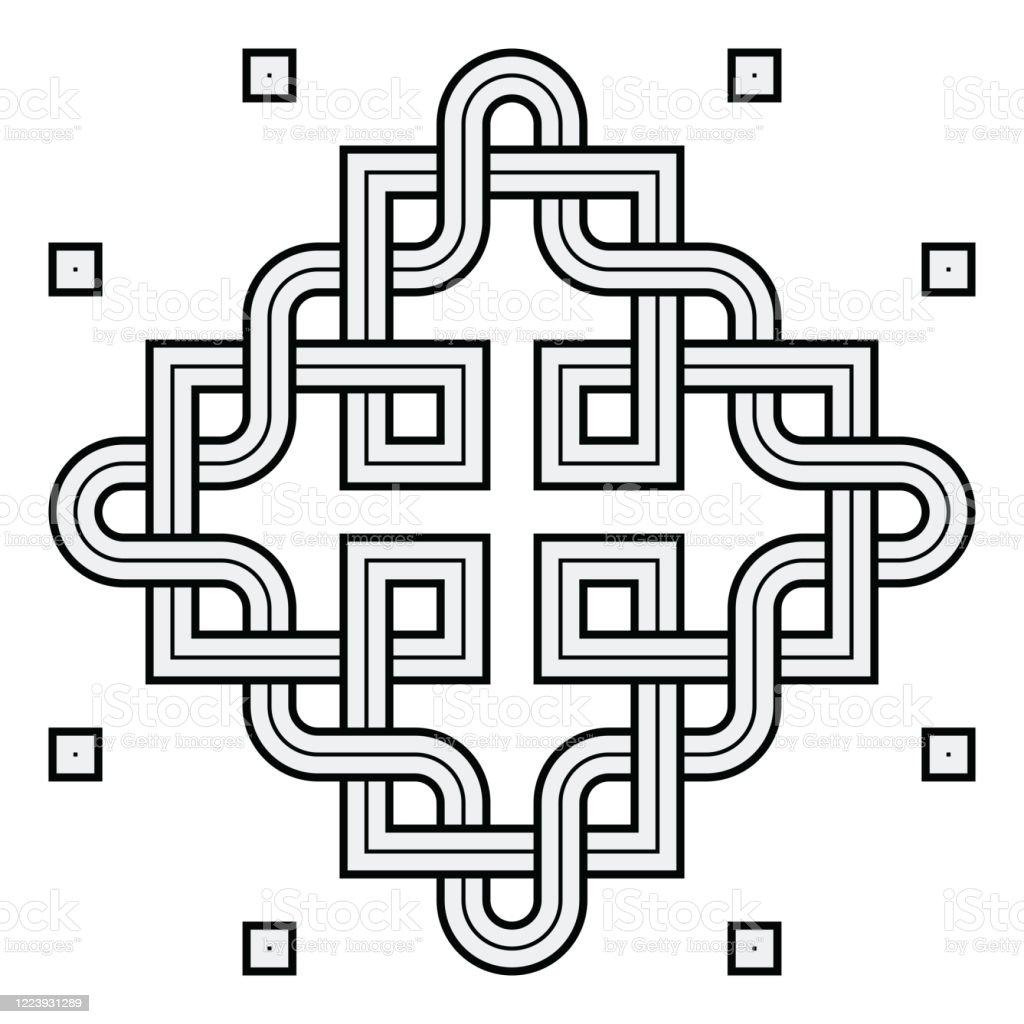 Viking Decoration Knot Interweaved Squares Snake Frame Stock Illustration Download Image Now Istock