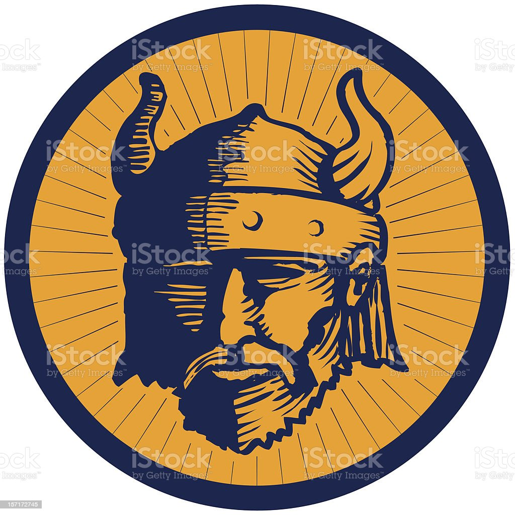 Viking From the Front royalty-free stock vector art