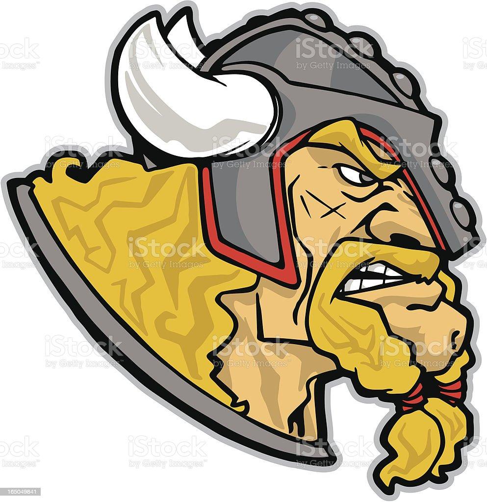 Viking Head royalty-free stock vector art