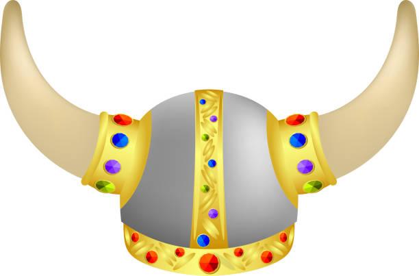 Viking barre de navigation avec bijoux - Illustration vectorielle