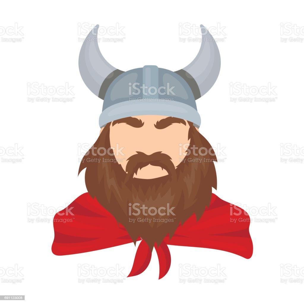 viking icon in cartoon style isolated on white background vikings