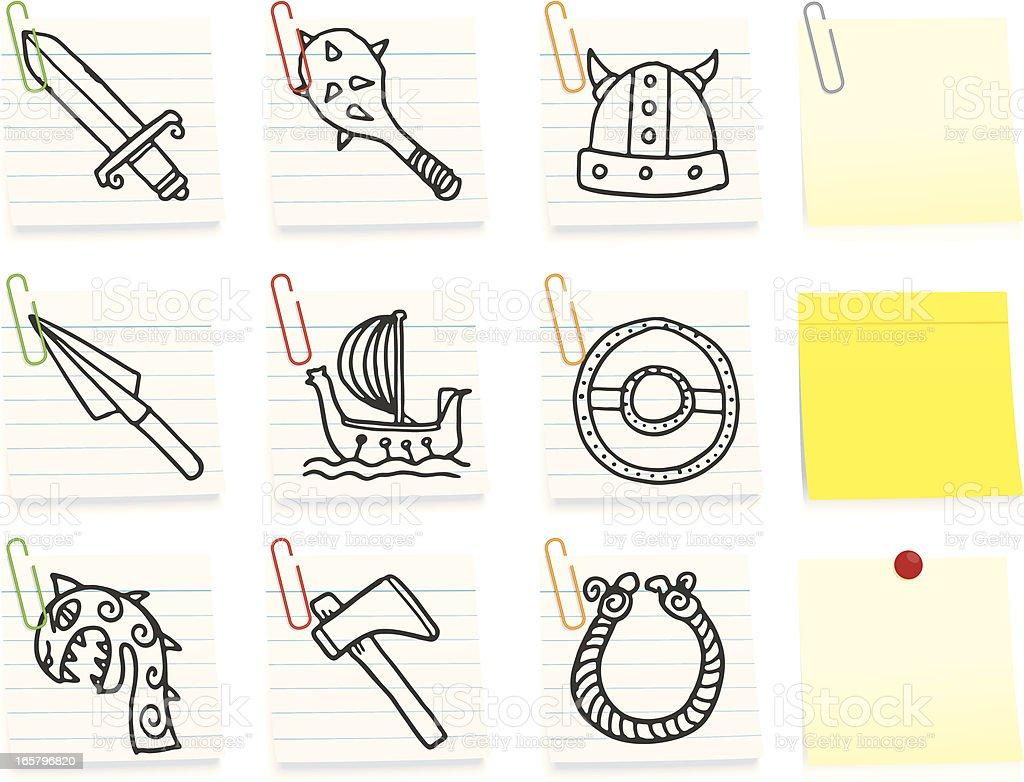 Viking icons royalty-free stock vector art