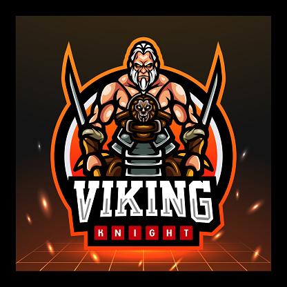 Viking knight mascot. symbol design