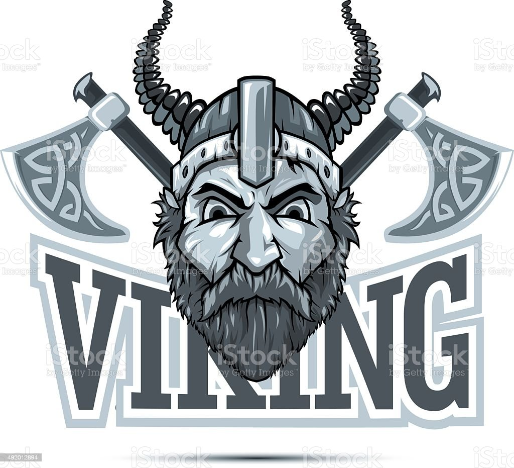 Viking-Maskottchen – Vektorgrafik
