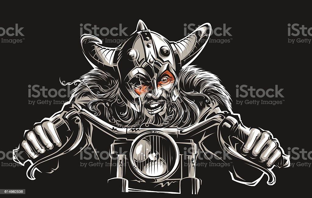 Viking Rider vector art illustration