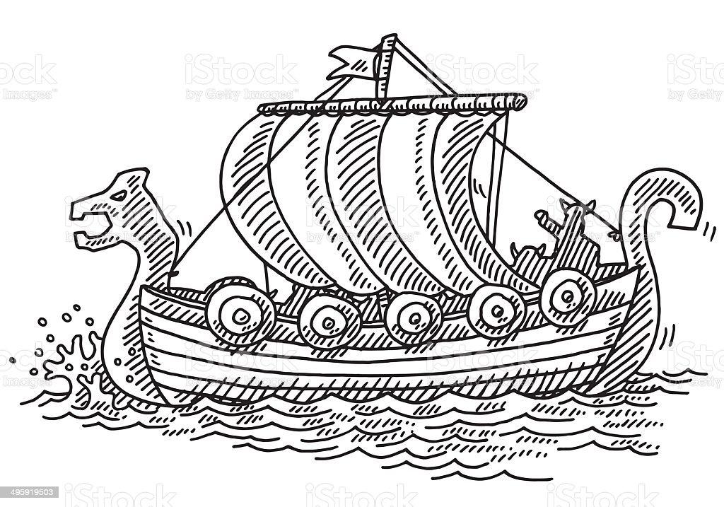 Drakkar dessin cliparts vectoriels et plus d 39 images de - Dessin de viking ...