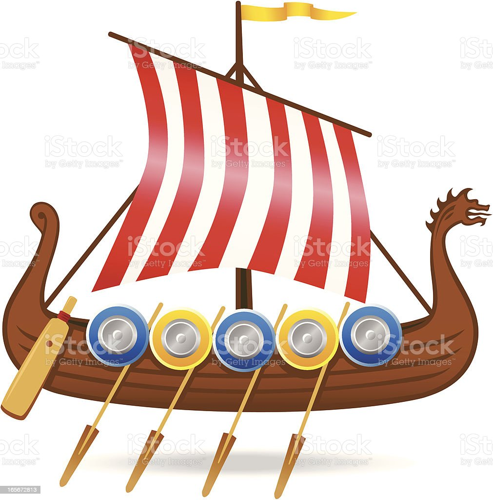 Viking Ship Stock Vector Art & More Images of Ancient Civilization 165672813 | iStock