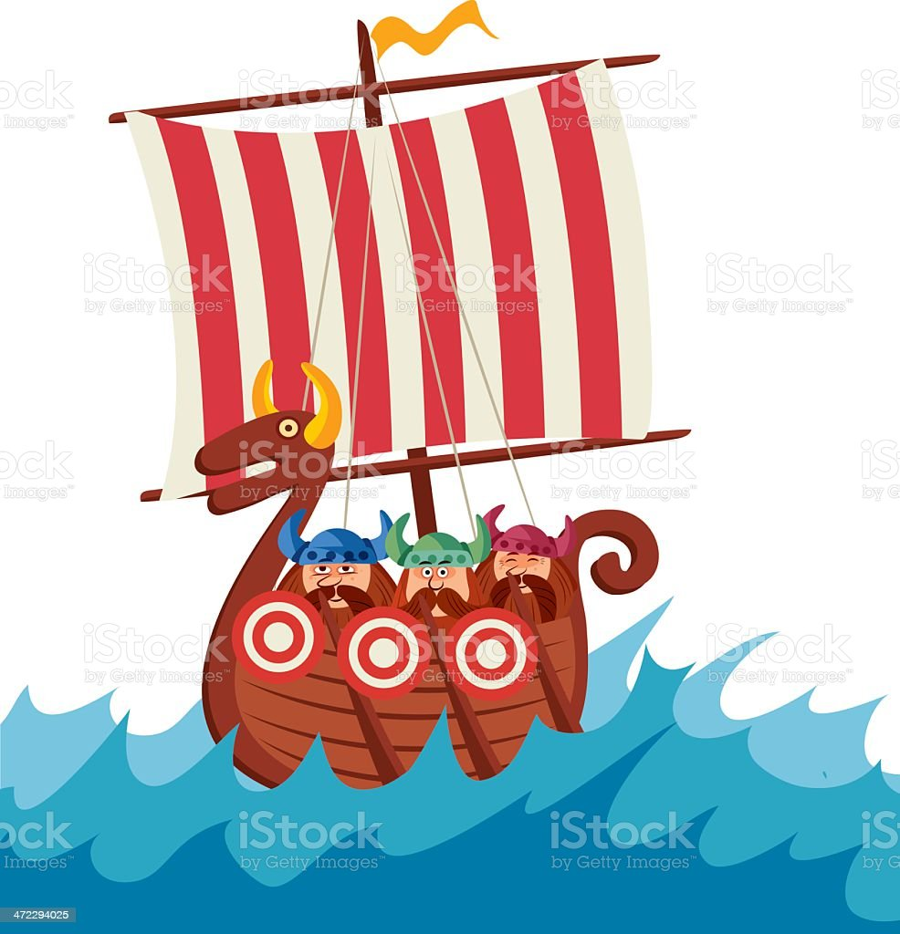 Viking Ship royalty-free stock vector art