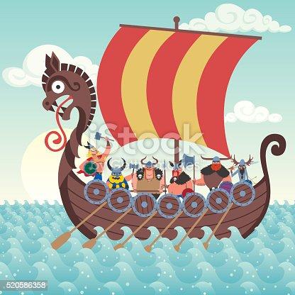 istock Viking Ship 520586358