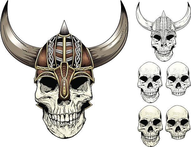 Viking Skull vector art illustration
