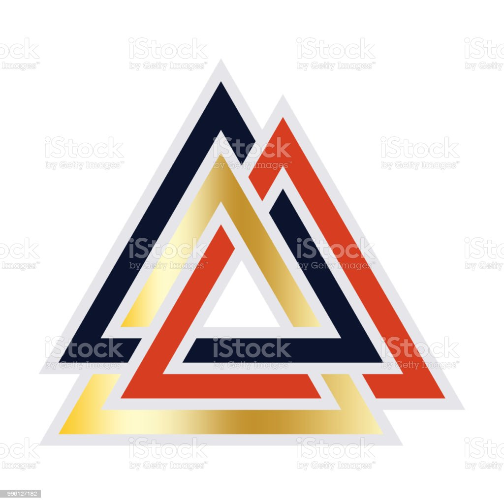 viking valknut rune made in germanic people colors viking warrior