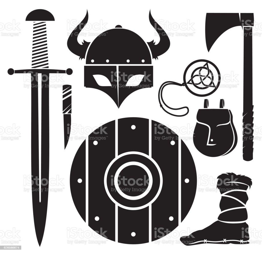Viking vector vector art illustration