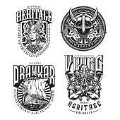Viking vintage designs set