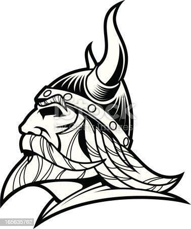 istock Viking Warrior Head B&W II 165635762