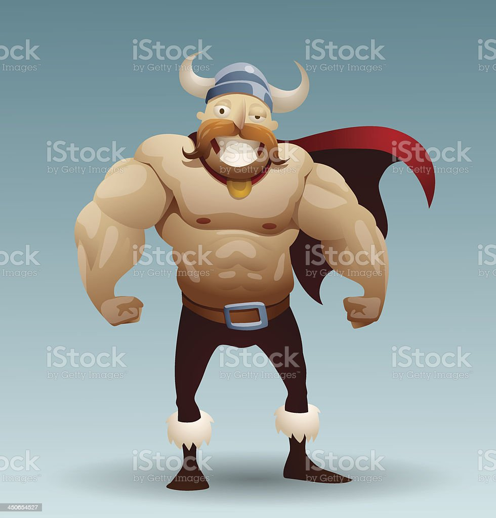 Viking warrior in a cloak royalty-free stock vector art