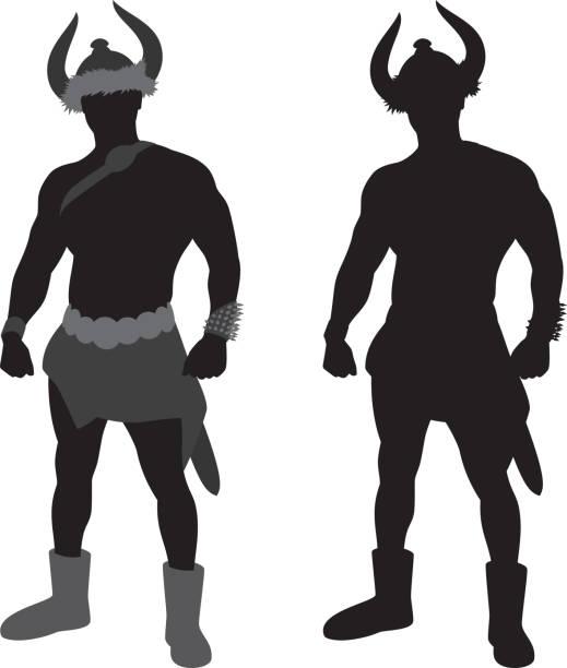 viking warrior silhouette - spitzenkampfstiefel stock-grafiken, -clipart, -cartoons und -symbole