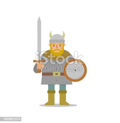 istock Viking warrior vector illustration 1303901574