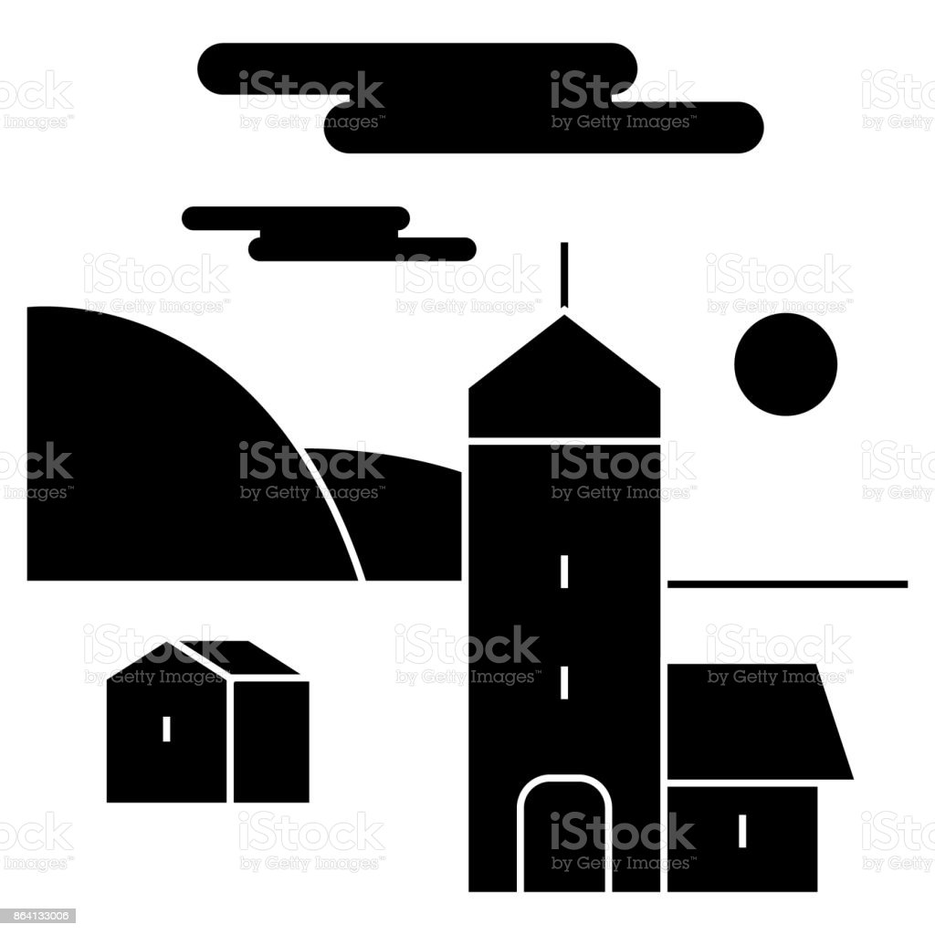 village  icon, vector illustration, sign on isolated background royalty-free village icon vector illustration sign on isolated background stock vector art & more images of agricultural activity