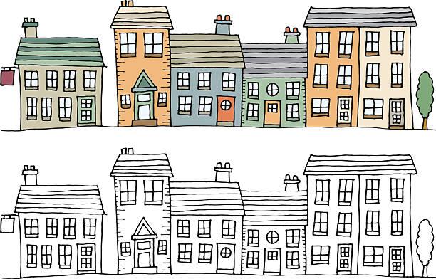 Village street – Vektorgrafik
