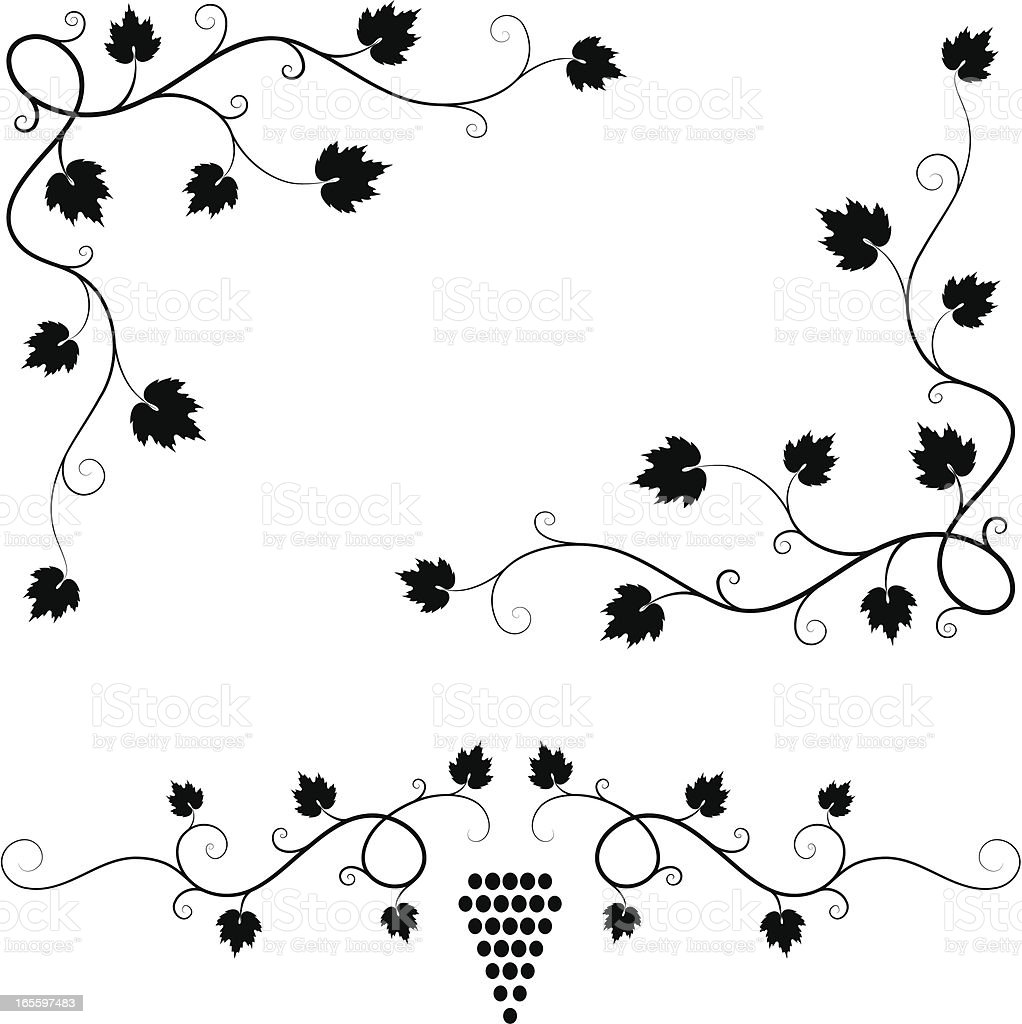 Trepadeira elementos de design ilustração de trepadeira elementos de design e mais banco de imagens de arte linear royalty-free