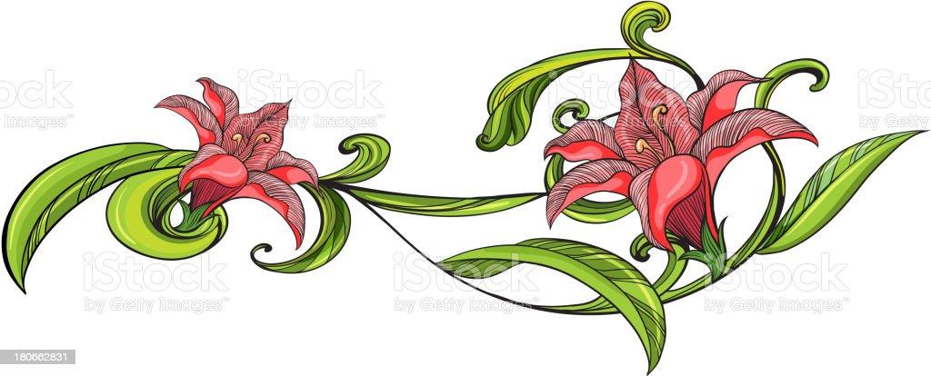 Vine flower border royalty-free stock vector art