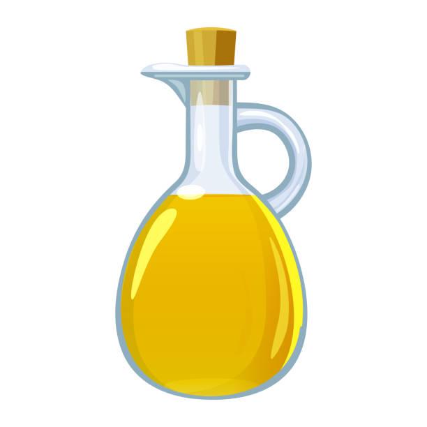 essig in glasflasche. vektor-illustration cartoon flache saitenaufe auf weiß isoliert. - dressing stock-grafiken, -clipart, -cartoons und -symbole