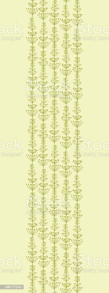 Vines Stripes Vertical Seamless Pattern Border royalty-free stock vector art