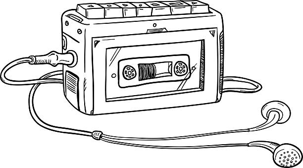 Best Old Style Record Player Drawing Illustrations ...