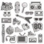 Vintage 1980s style item set