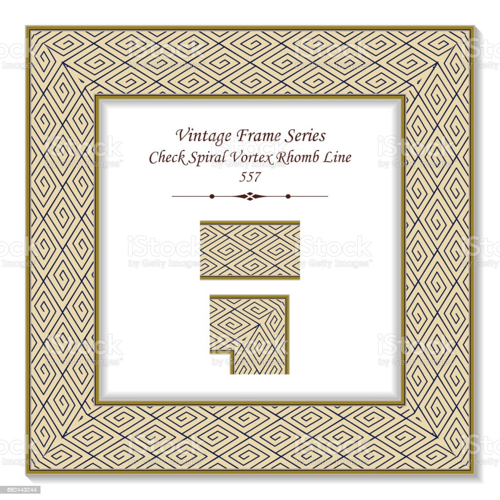 Vintage 3D frame Check Spiral Vortex Rhomb Line royalty-free vintage 3d frame check spiral vortex rhomb line stock vector art & more images of arts culture and entertainment