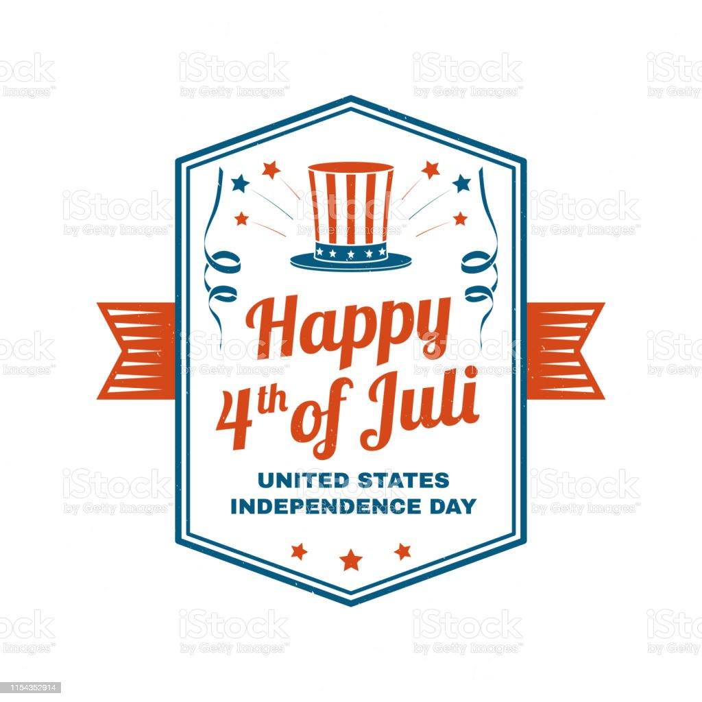 Vintage 4th Of July Design In Retro Style Independence Day Greeting Card Patriotic Banner For Website Template Vector Illustration Stock Illustration Download Image Now Istock