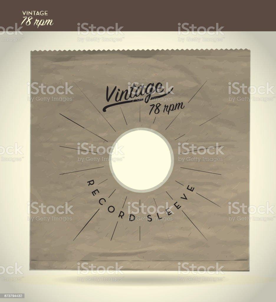 Vintage 78rpm paper sleeve design template vector art illustration
