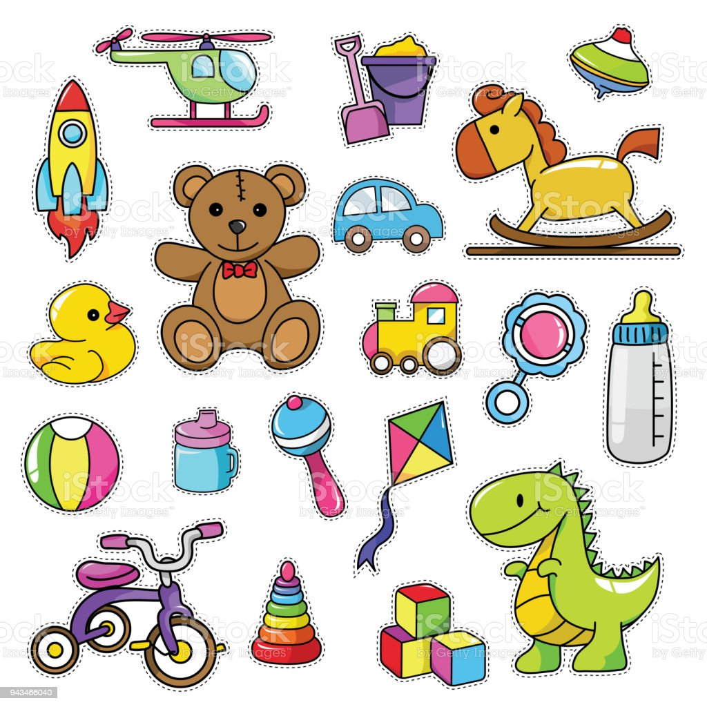 Vintage 80s90s Baby And Toddler Theme Fashion Cartoon Illustration