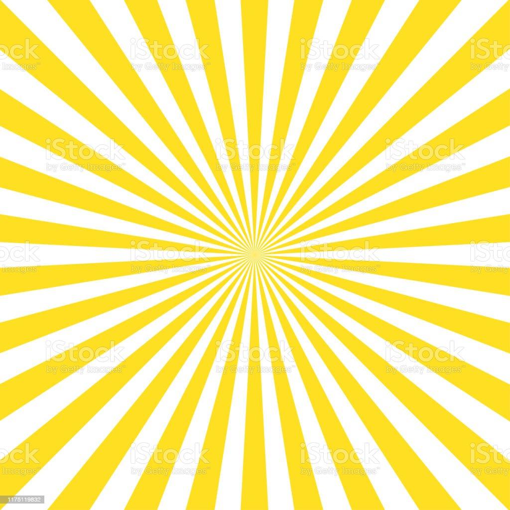 光の背景に黄色のサンレイとヴィンテージ抽象テンプレート太陽光抽象的