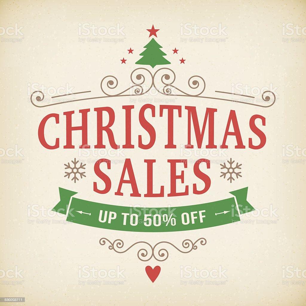 Vintage Weihnachtenposter Hintergrund Nach Verkauf Stock Vektor Art ...