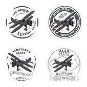 Vintage airplane emblems.