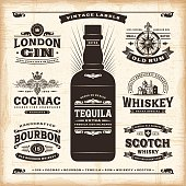 istock Vintage alcohol labels collection 472478024