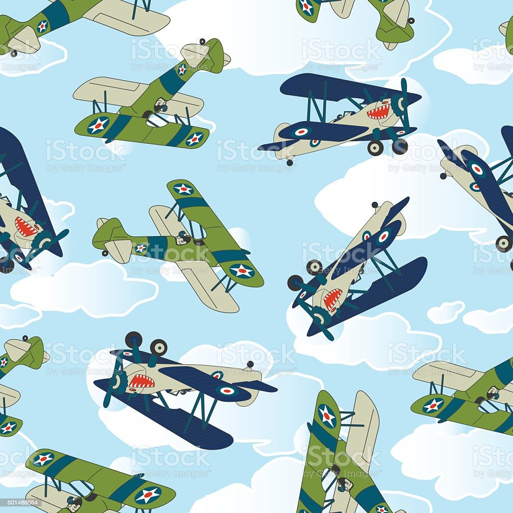 Vintage allied plane flying. vector art illustration