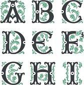 vintage alphabet. Part 1
