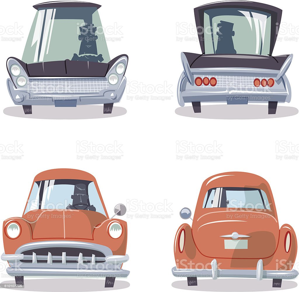 Vintage American Cars Stock Vector Art & More Images of 1950-1959 ...