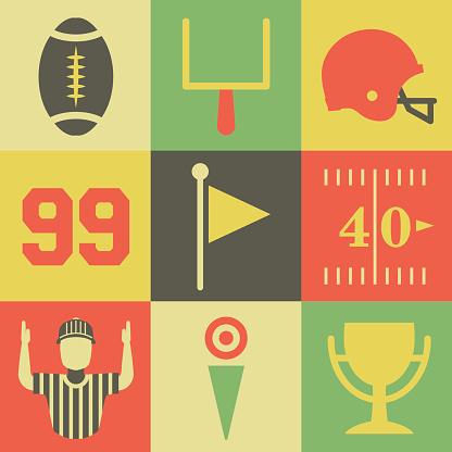 Vintage American Football Icons
