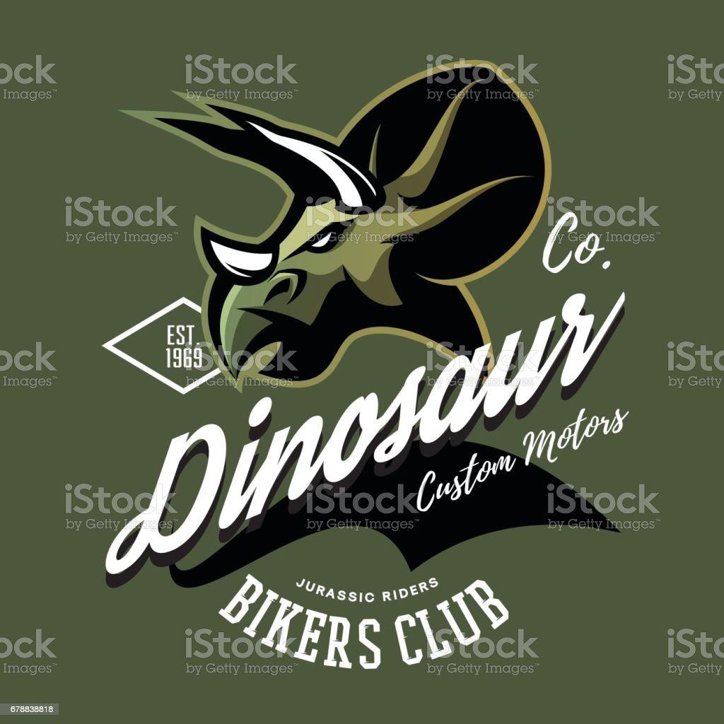 Club de motards de dinosaure furieux American Vintage club de motards de dinosaure furieux american vintage – cliparts vectoriels et plus d'images de animal disparu libre de droits