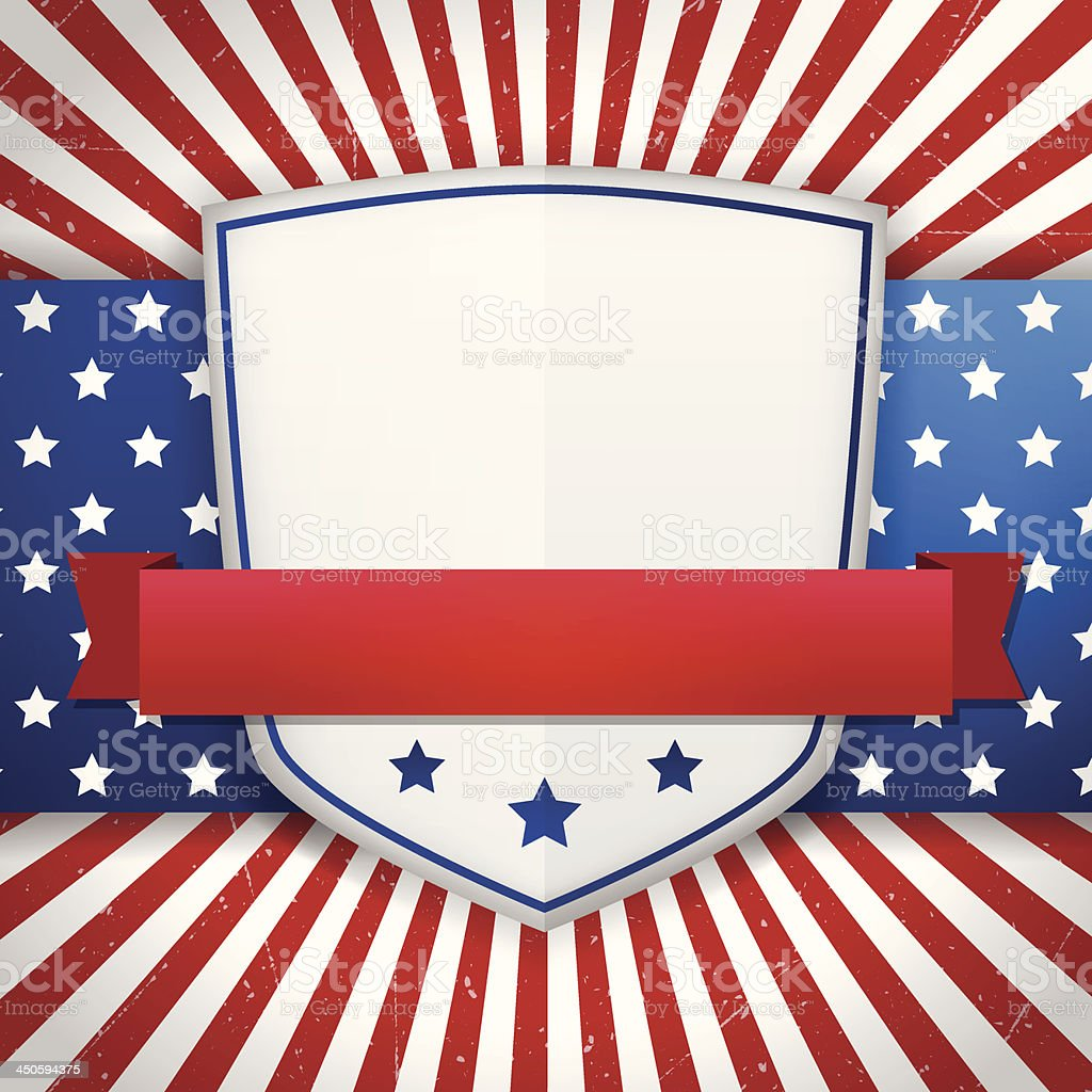 Vintage american shield royalty-free stock vector art