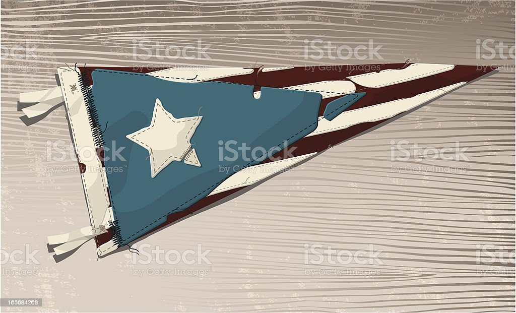 Vintage Americana Pennant royalty-free stock vector art