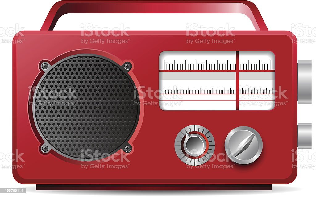 Vintage analog portable red radio illustration royalty-free vintage analog portable red radio illustration stock vector art & more images of cut out